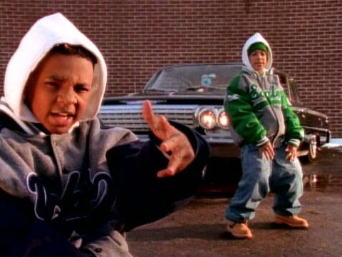 This is the only image of Kriss Kross in which they are wearing some clothing the correct way around.